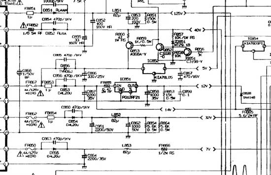 Вторичные цепи Lg GF29V10KT