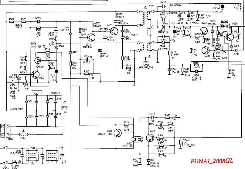 Схема БП Funai 2008GL