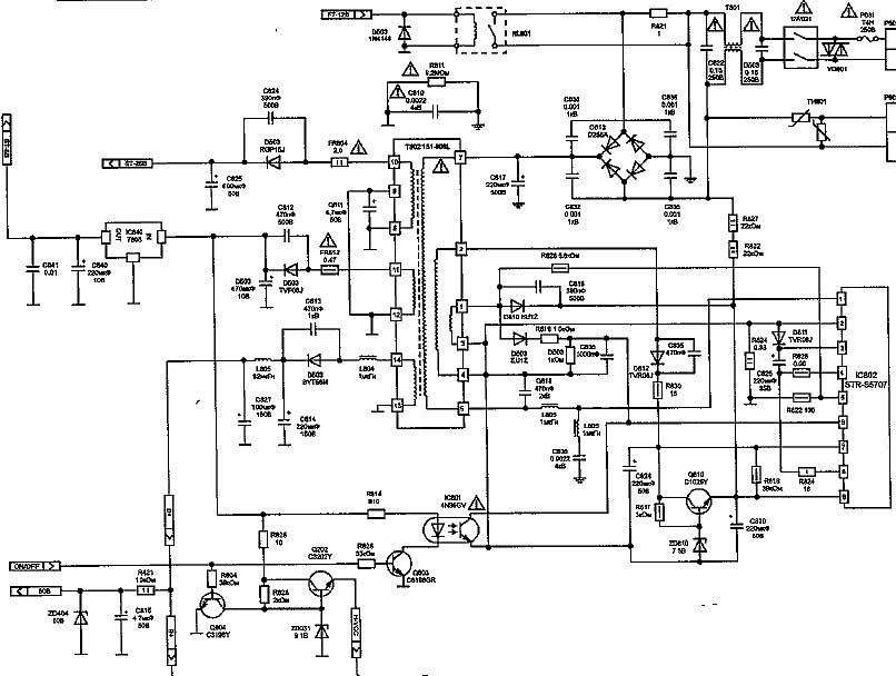 Схема бп LG 20E60, 21E60
