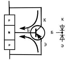 Прямой транзистор