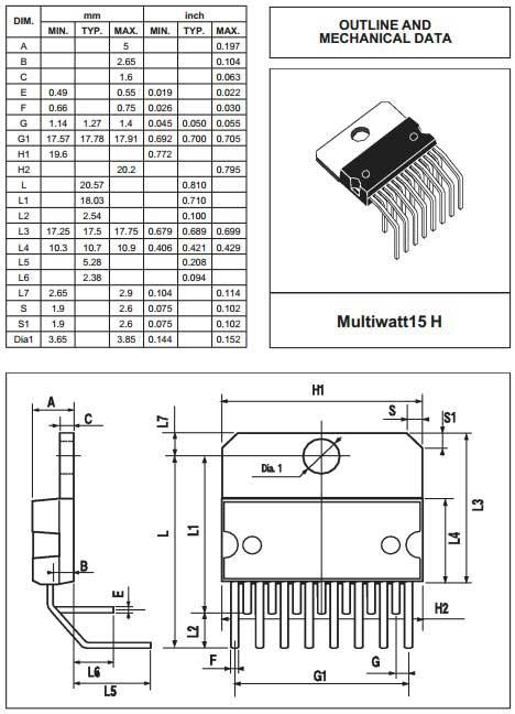 Multiwatt15V 7377