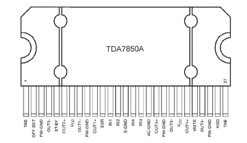 Распиновка TDA7850