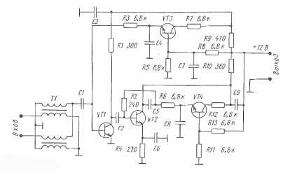 Схема антенного усилителя swa 2000