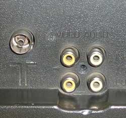 Антенный и AV вход телевизора