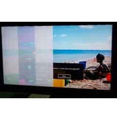 Вертикальная полоса на экране ЖК телевизора.