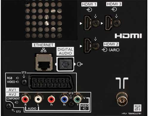 Порты и разъемы  телевизора PANASONIC TX-LR32E6