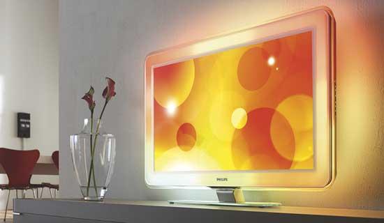 Фото встроенной подсветки телевизора Philips