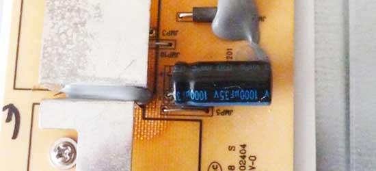 конденсатор на плате инвертора