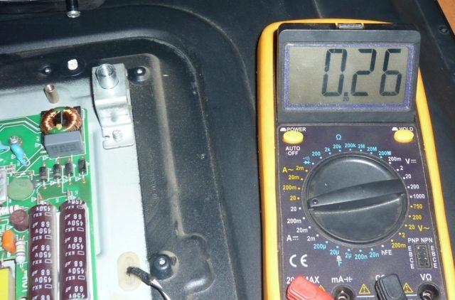 ток на выводе 10 260 ма