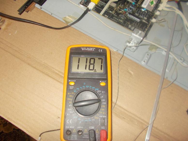 Напряжение на планке подсветки ТВ Helix